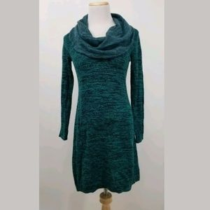 Soft Surroundings S Cowl Neck Sweater Dress